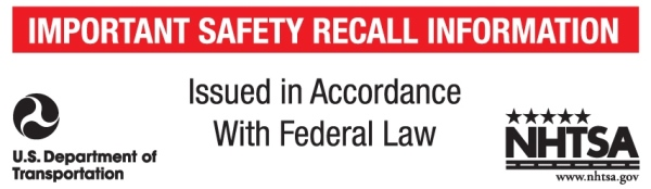 NHTSA Recall Label