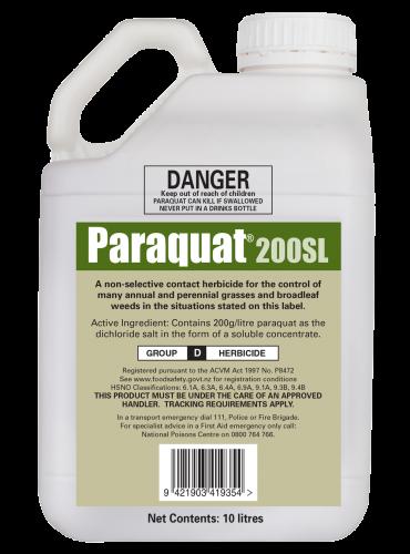 paraquat bottle
