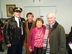 Captain Keith Sulzer, Arthur Elk, Sister Corita Ambro and David Elk