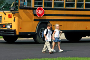 Always stop for a school bus.